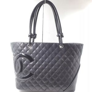 CHANEL Cambon large lambskin Tote